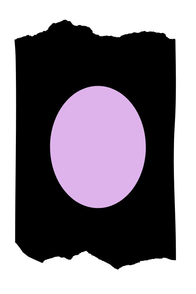 Pantis tupidos negros con rodilleras de color violeta, colección basic colors diseño violet
