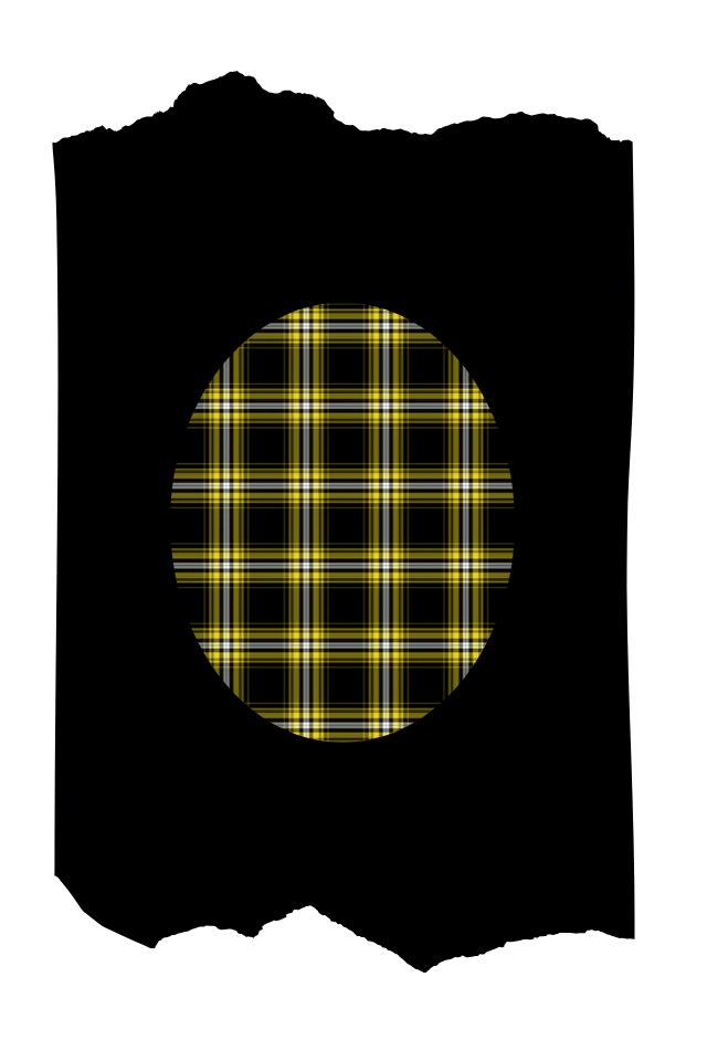 Pantis tupidos de fantasía de color negro, con rodilleras de cuadros amarillos, colección scotland diseño yellow square
