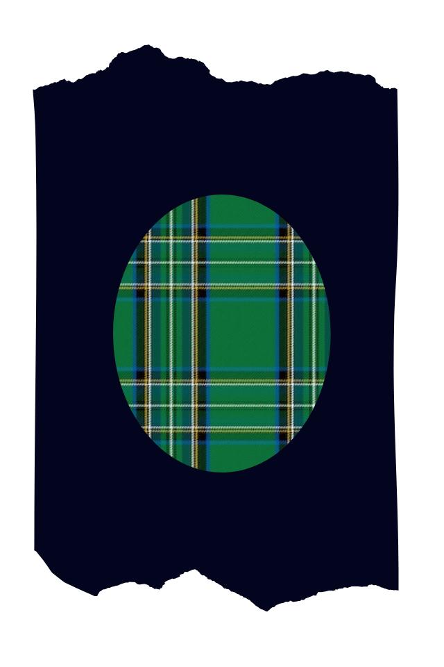 Pantis tupidos azul marino con rodilleras de cuadros verdes, green box, colección scotland
