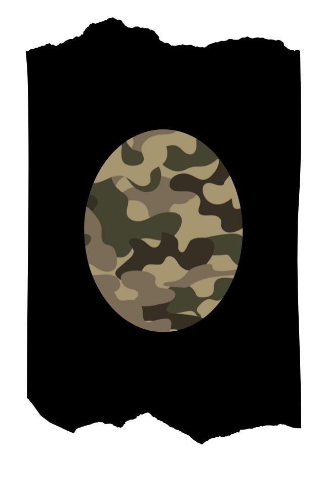 Pantis de fantasía tupidos negros con rodilleras de camuflaje estampado militar, colección palmers diseño camouflage