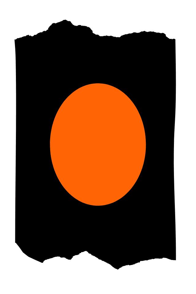 Pantis tupidos de fantasía de color negro, con rodilleras de color naranja, colección basic colors diseño orange