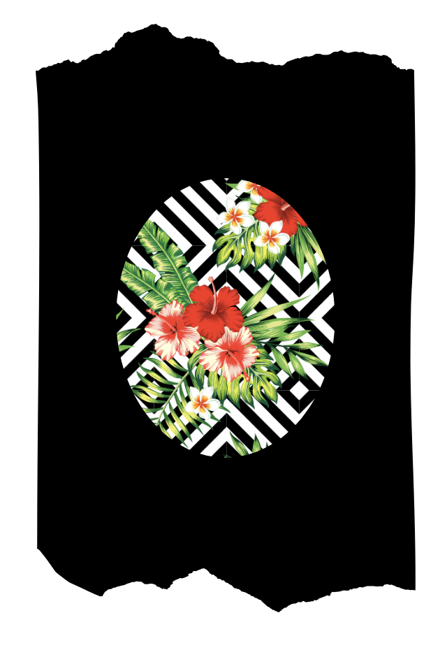 Pantis negros de fantasía tupidos negros con rodilleras de flores rojas y geométricas, colección palmers diseño temptation