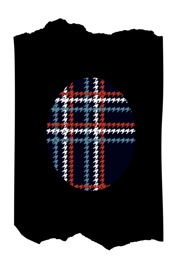 Pantis tupidos de fantasía de color negro, con rodilleras de cuadros escoceses chanel, colección scotland diseño tweeds